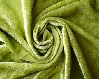 Lime Green Velvet Fabric Yardage Commercial Fabric Curtain Fabric Fashion Velvet Upholstery Fabric Decorative Fabric Window Treatment Fabric