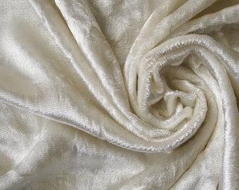 Ivory Velvet Fabric Yardage Commercial Fabric Curtain Fabric Fashion Velvet Upholstery Fabric Decorative Fabric Window Treatment Fabric