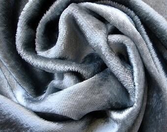Light Silver Velvet Fabric Yardage Curtain Fabric Fashion Velvet Upholstery Fabric Decorative Fabric Window Treatment Fabric By The Yard