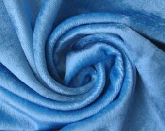 Light Blue Velvet Fabric Yardage Curtain Fabric Fashion Velvet Upholstery Fabric Decorative Fabric Window Treatment Fabric By The Yard