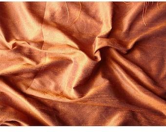 Dark Rust Art Silk Fabric By The Yard Silk Curtain Fabric Apparel Fabric Silk Dupioni Fabric Indian Silk Fabric By The Yard