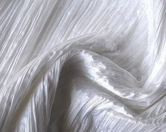 White Crushed Art Silk
