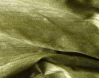 Green Art Khadi Handloom Silk Fabric - 1 Yard
