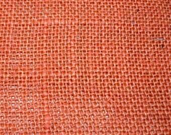 Orange Burlap Fabric