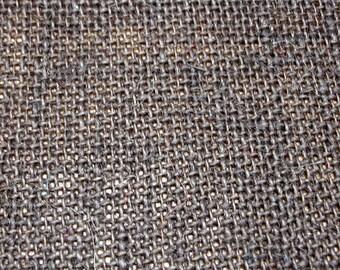 Dark Brown Burlap Fabric - 1 Yard