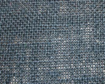 Black Burlap Fabric - 1 Yard