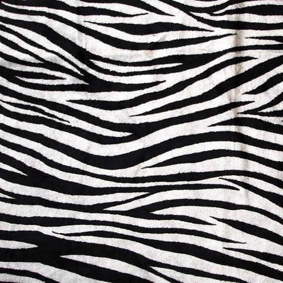 Zebra Print Velvet Fabric With Printing Technique