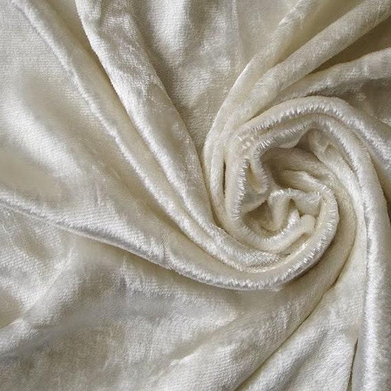 Ivory Velvet Fabric Yardage Commercial Fabric Curtain Fabric
