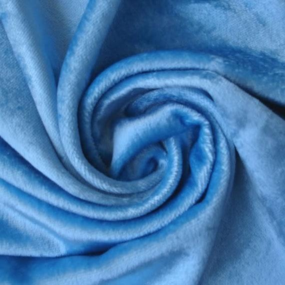 Light Blue Velvet Fabric Yardage Commercial Fabric Curtain