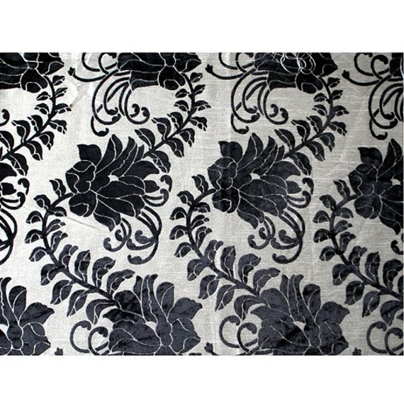 Black Ivy Garden - Burnout Velvet on Fancy Fabric