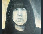 9 x 12 Archival Print of Ramones Johnny Ramone Original Painting by NYC Brooklyn Artist