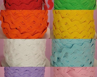 4 Yards of 1/2 Inch Ric Rac - choose from 8 colors