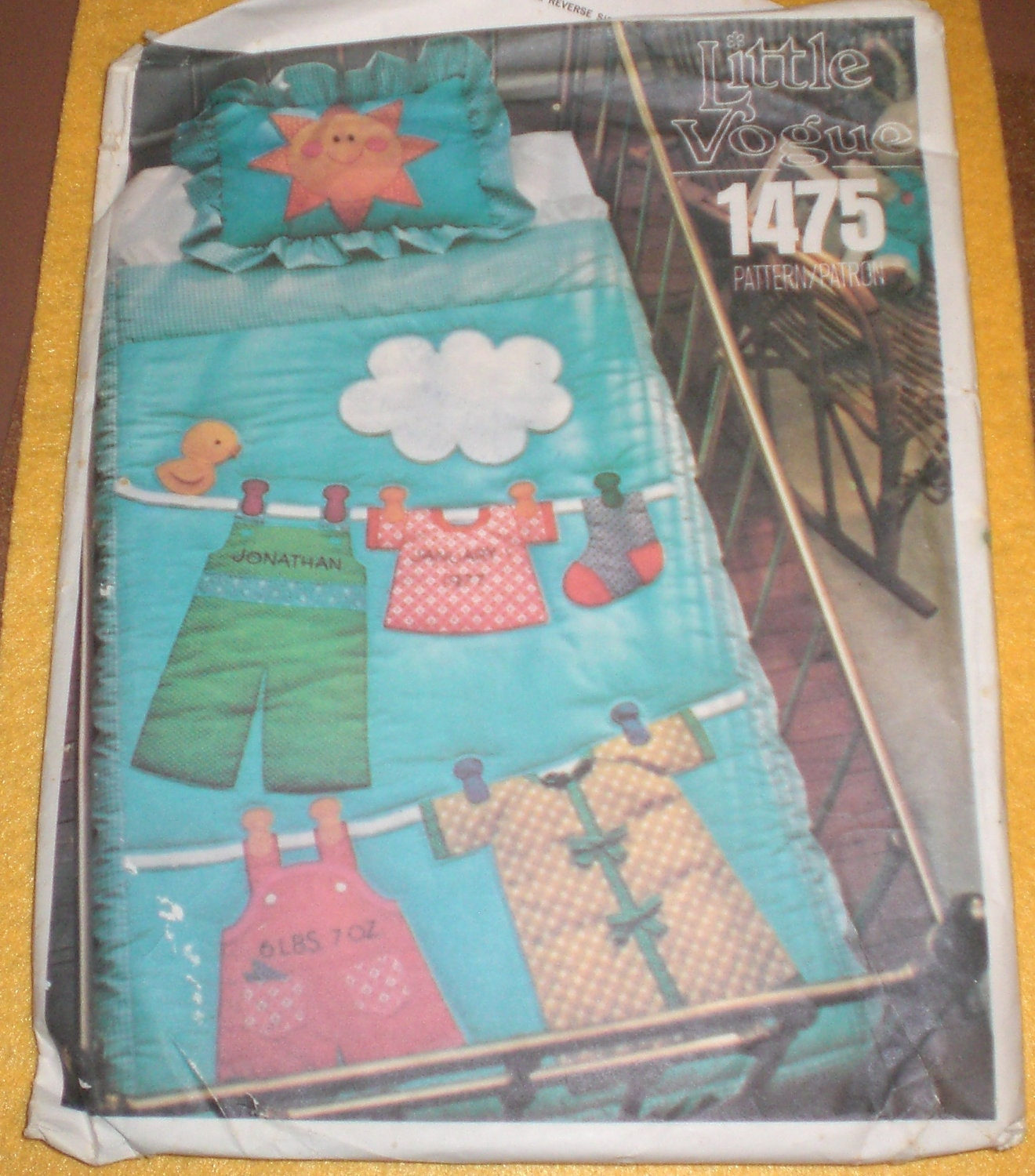 Clothesline Baby Quilt Pattern With Sham