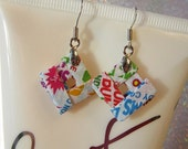 Upcycled Earrings Dum Dum Candy Teen Jewelry Funky Earrings eco