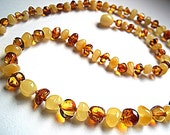 Light and Honey  Baltic  Amber  Necklace Choker  18.1 inches.