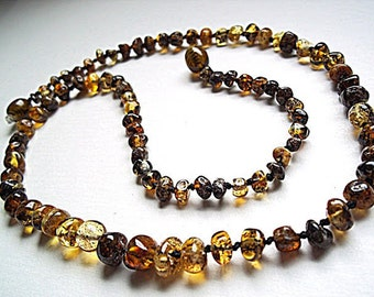 Green greenish Baltic  Amber  Necklace Choker  17.7 inches.