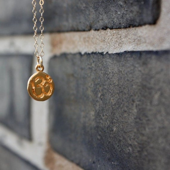 CLEARANCE SALE: Gold Om Necklace - Yoga Jewelry. Outdoor & Sportsman. Gift Ideas for Her