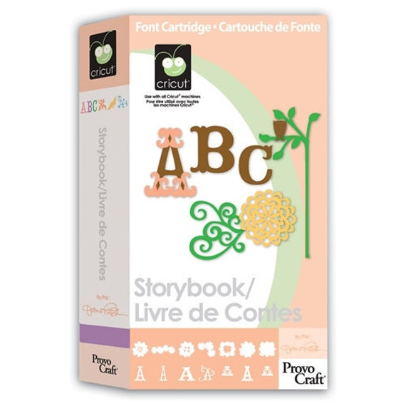 STORYBOOK Die Cut Cricut Cartridge NEW Font Shapes Phrases Corners Frames Story Book