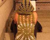 Lord of the Rings Handmade Crochet Spider Hooded Vest