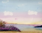 Evening Shores, limited edition print from original watercolor