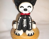 Black Kitty Cat Skeleton Glow in the Dark Cake Toppers FREE SHIPPING
