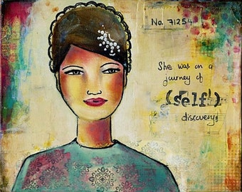 She was on a journey of (SELF) Discovery, archival fine art print