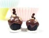 Cupcakes Miniature Sculpture - Curio Collection - Little Bitsies No 55