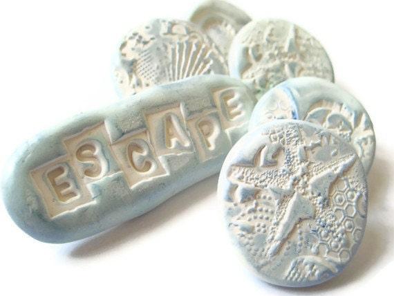 Decorative Push Pins - Thumbtacks - Sea Ocean Escape - Set of 6