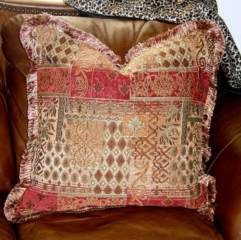 Throw Pillow Decorative Tuscan Old World Euro 24 In Brush