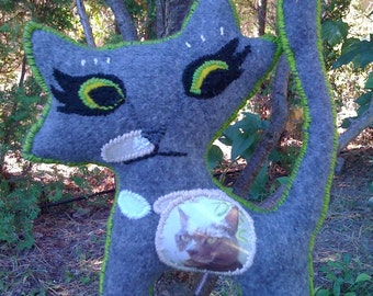 Custom Ghost Kitty Memorial Doll