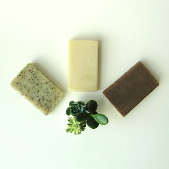 3 Guest Bars - You Choose - Handmade Vegan Cold Process Soap - Guest Size Soap
