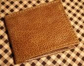 Handmade Butterscotch Brown Leather Buffalo Bifold Wallet