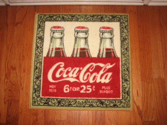Coca Cola Small Rug Kitchen Mat by TheBarefootStitcher on Etsy – Coca Cola Kitchen Rug