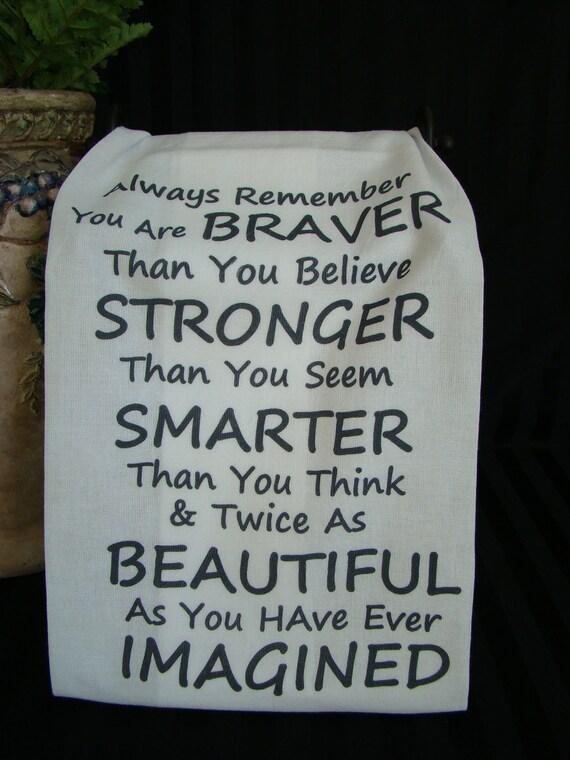 Always Remember tea towel -Kitchen towel - black ink or pink ink, you choose - flour sack towel