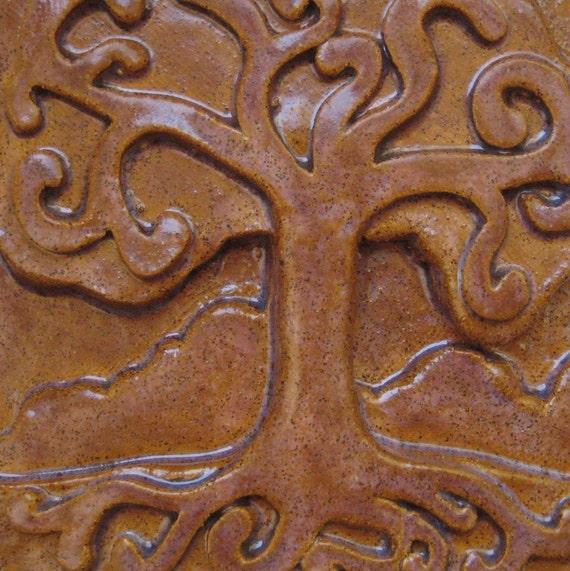 The Secret Life of Trees Tile 6x6 - Oak Tree Family Wall Decor Home Art Tree Hanging