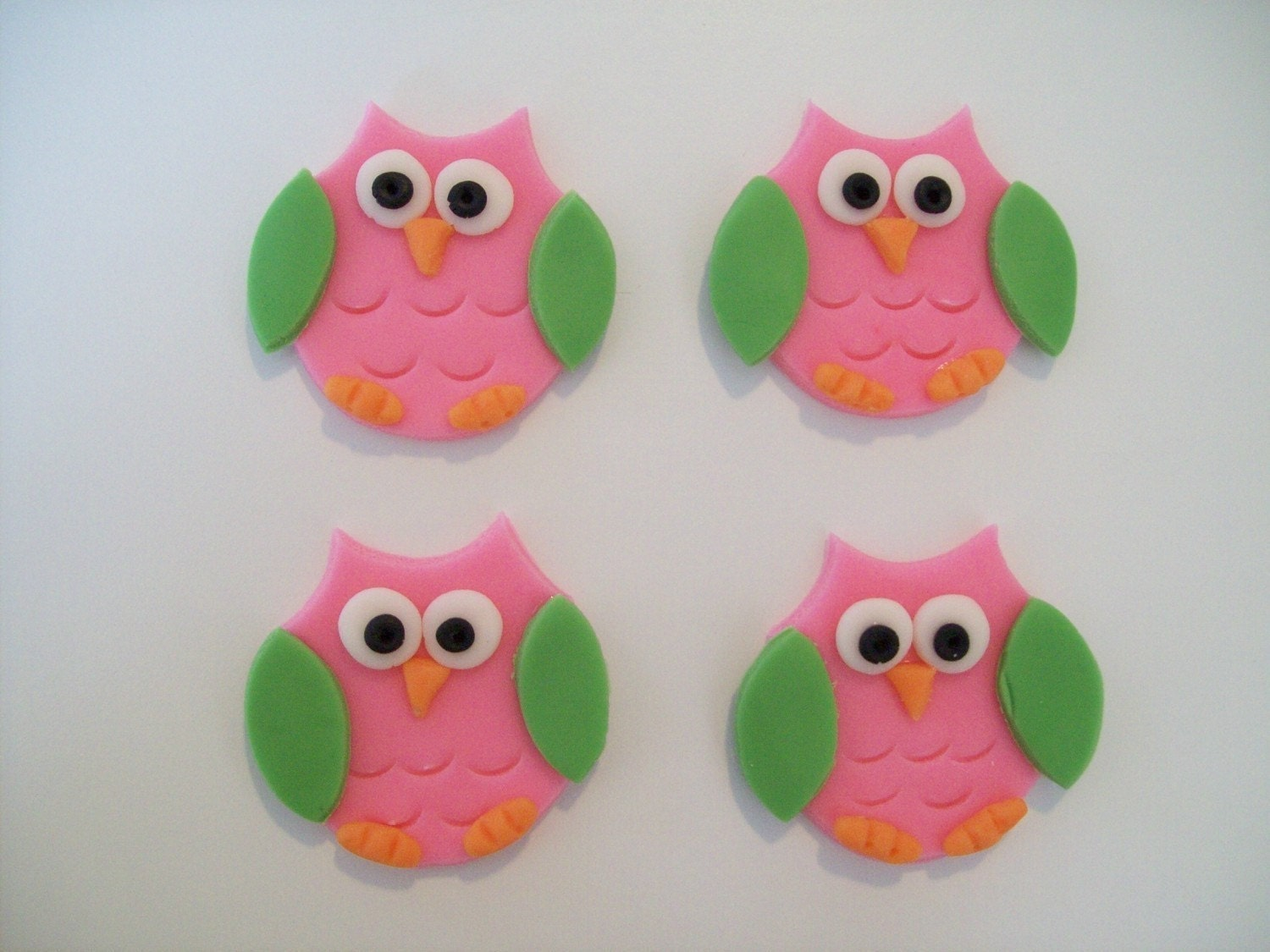 Cake Toppers In Fondant : Fondant Owl Cupcake Toppers