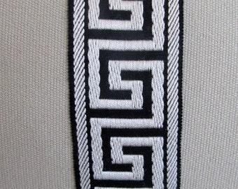 GREEK KEY flat decorative trim 2.25 inch BLACK