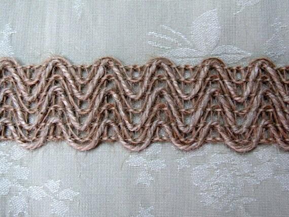 BURLAP  woven flat braid1 1/4 inch