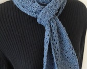 Light blue scarf--made from recycled DENIM--dj