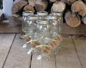 SIX Mason Jar Redneck Wine Glasses (6)- Hillbilly Approved - Fun Gift