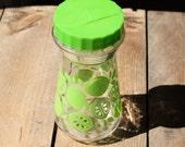 Vintage 24 oz. Glass Juice Pitcher with Green Lime Citrus Design