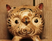 Horned Owl Paperweight, heavy metal