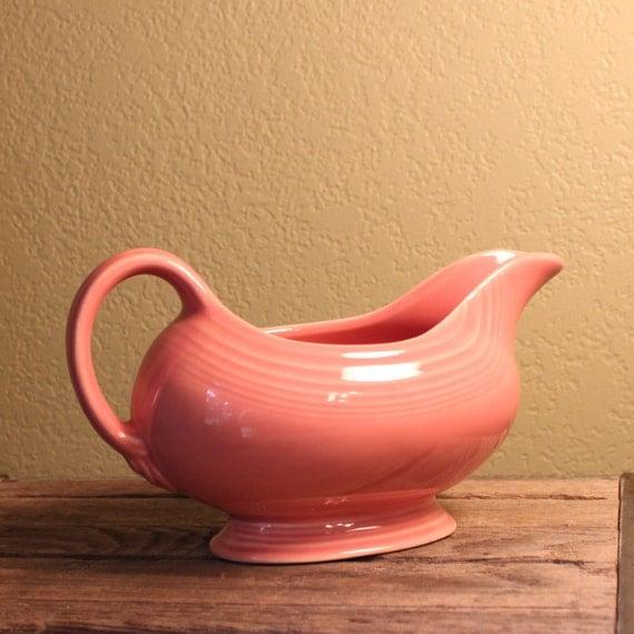 Vintage Fiestaware Gravy Boat in Pink (Rose)