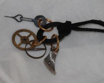 Steampunk Charm Necklace Watch Part Pendant
