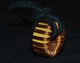 Gorgeous Copper Wrapped Found Object Necklace