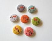 magnets- fox magnets- kitchen magnets- woodland theme- magnet set- redtilestudio