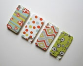 Summer Fun Collection iPhone 4/4s case Pattern YOU CHOOSE Yellow Gray Red Blue insect bug chevron stripes Pattern redtilestudio
