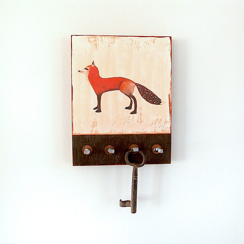 Fox Key Holder Cottage Decor Rustic Home Decor By