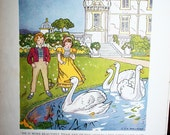 The Ugly Duckling Tales from Storyland Page From 1941 Book Collage Art or Frame