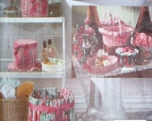 Vintage Bath and Vanity Accessories Vogue Pattern 8306 Romance Holidays Shabby Chic